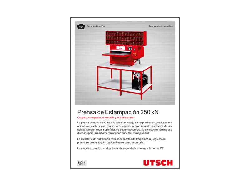 UTSCH Prensa de Estampación 250 kNrend, wirtschaftlich und bedienungsfreundlich.