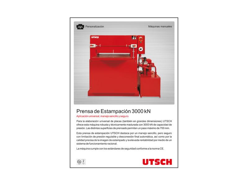 UTSCH Prensa de Estampación 3000 kN