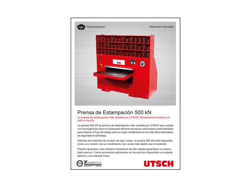 UTSCH Prensa de Estampación 500 kN