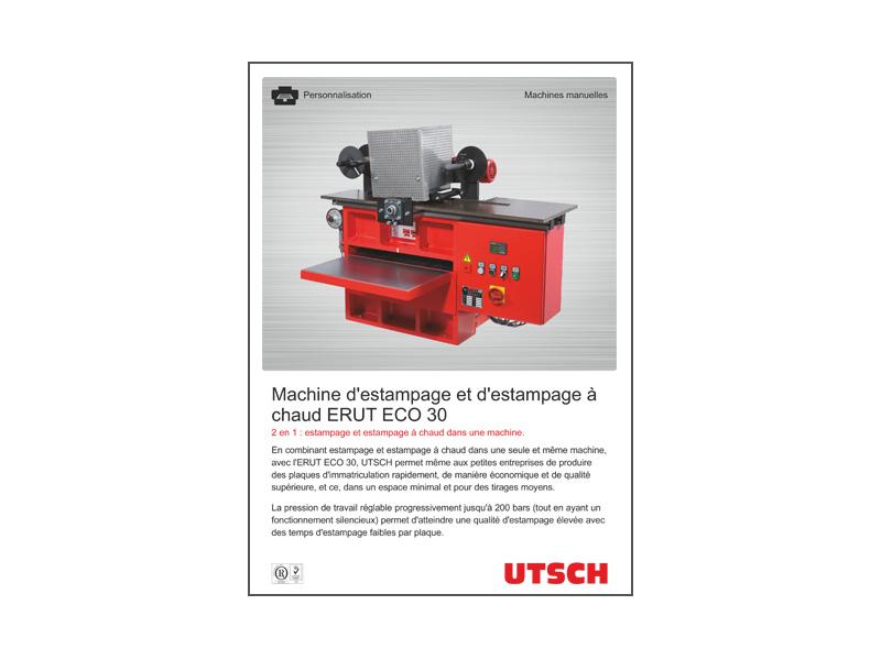 Machine d'estampage et d'estampage à chaud ERUT ECO 30