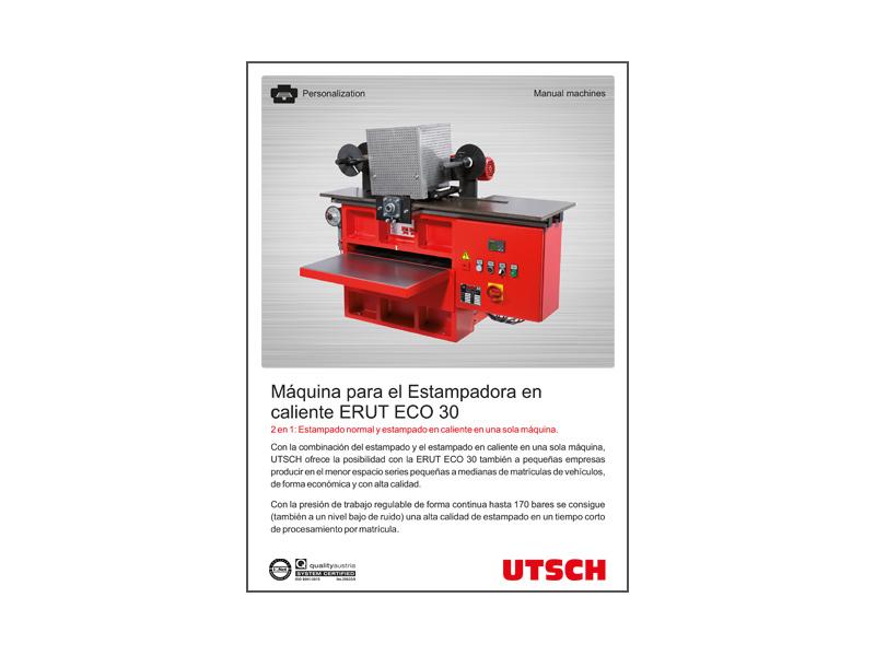 Máquina para el Estampadora  en caliente ERUT ECO 30