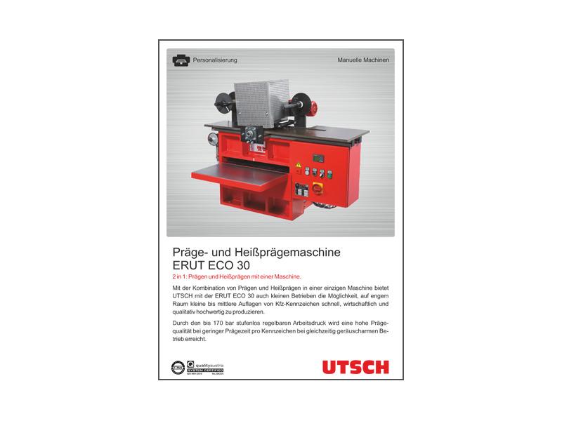 Präge- u. Heißprägemaschine ERUT ECO 30 - 2 in 1: Prägen und Heißprägen in einem.