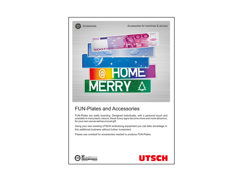 FUN-Plates and Embossing Accessoires - Signs that are fun - for your customers and your business.
