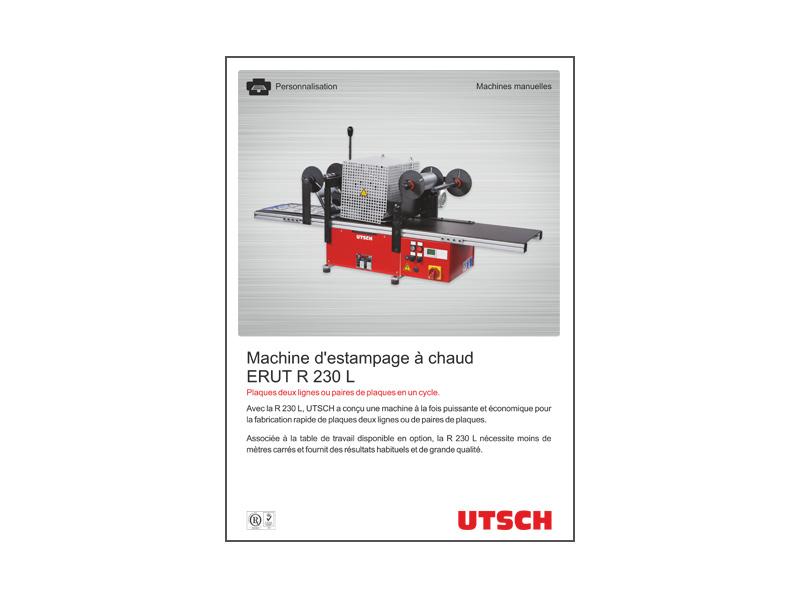 Machine d'estampage à chaud ERUT R 230 L