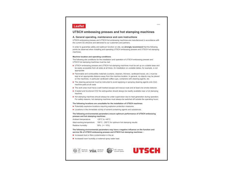 Leaflet Operational Safety