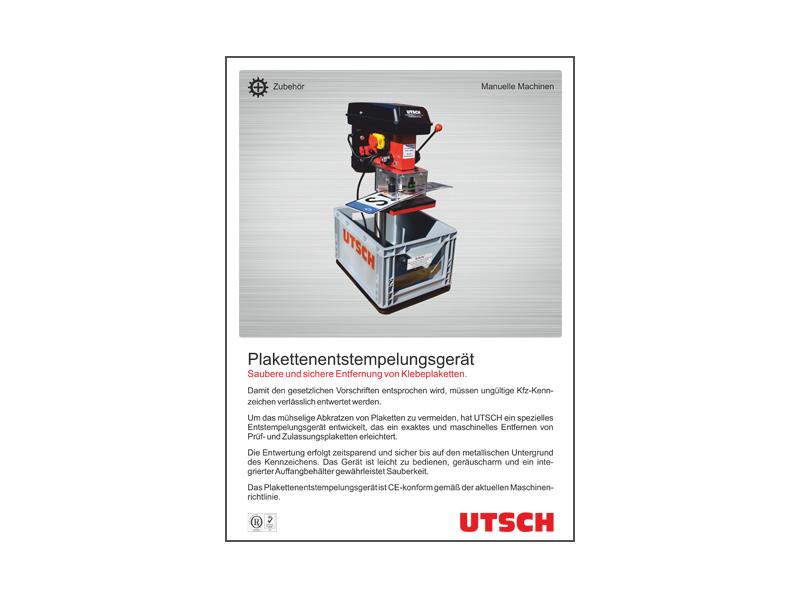 Plaketten-Entstempelungsgerät