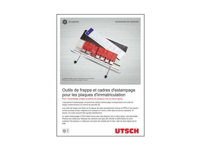 Outils de frappe et cadres d'estampage pour les plaques d'immatriculation
