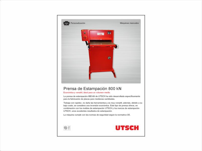UTSCH Prensa de Estampación 800 kN