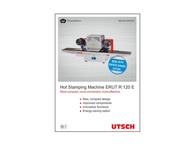 Hot Stamping Machine ERUT R 120 E