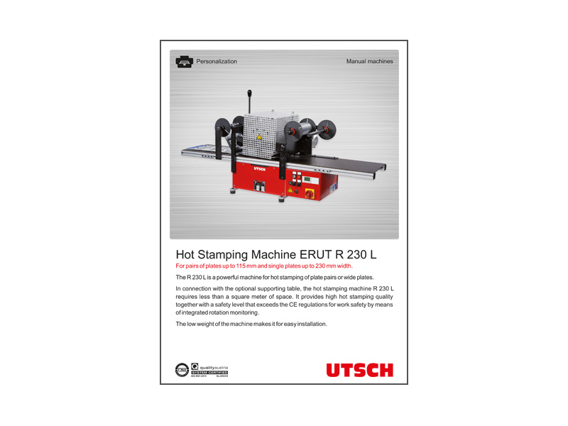 Hot Stamping Machine ERUT R 230 L