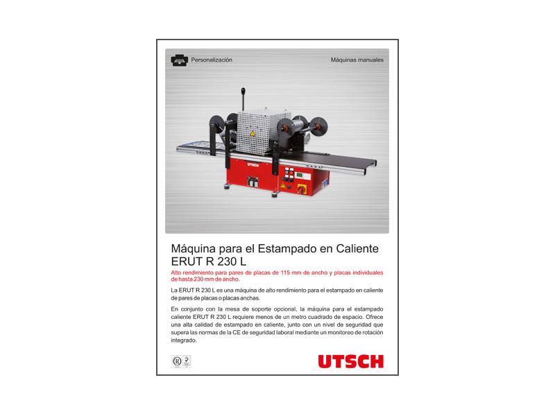 Máquina para el Estampado en Caliente ERUT R 230 L
