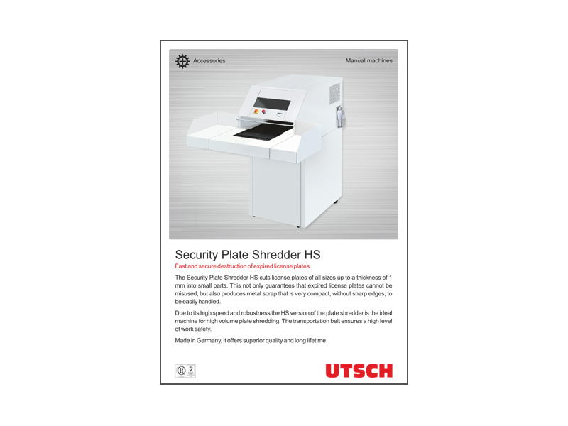 Security Plate Shredder HS