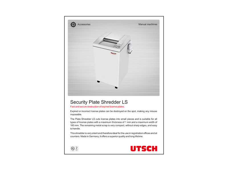 Security Plate Shredder LS