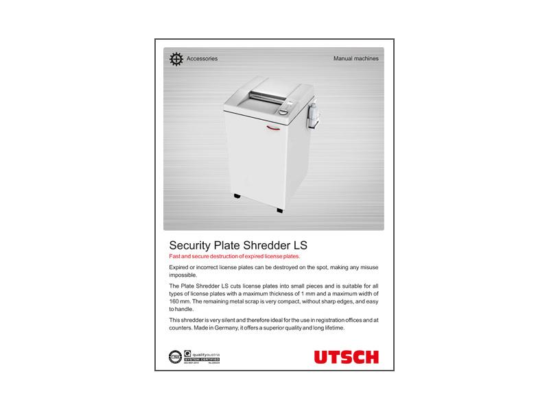 Security Plate Shredder LS