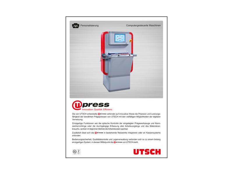 Netzwerkfähige Prägepresse U-Press - Die Prägepresse für das 21. Jahrhundert.