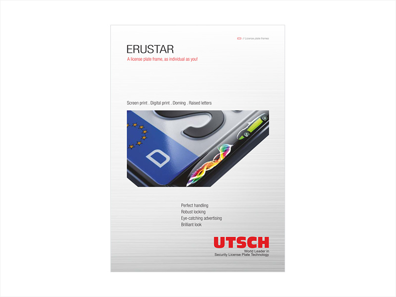 ERUSTAR - A license plate frame, as individual as you!