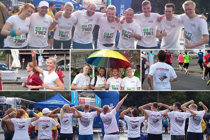 Wetter schlecht, Stimmung gut: Das UTSCH-Team auf dem 13. Siegerländer Firmenlauf.