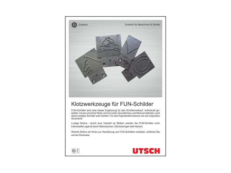 FUN-Motive - Klotzwerkzeuge zur Herstellung von FUN-Schildern.