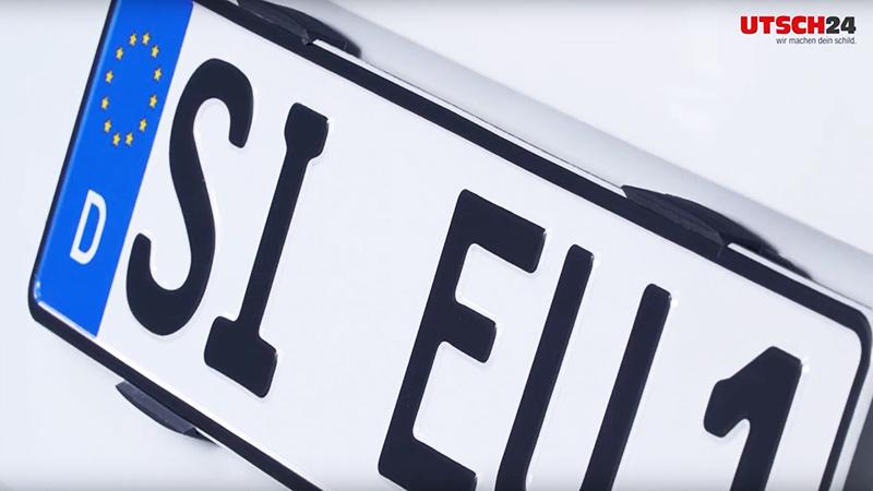 Kennzeichenbefestigung Simple-Fix Montagevideo