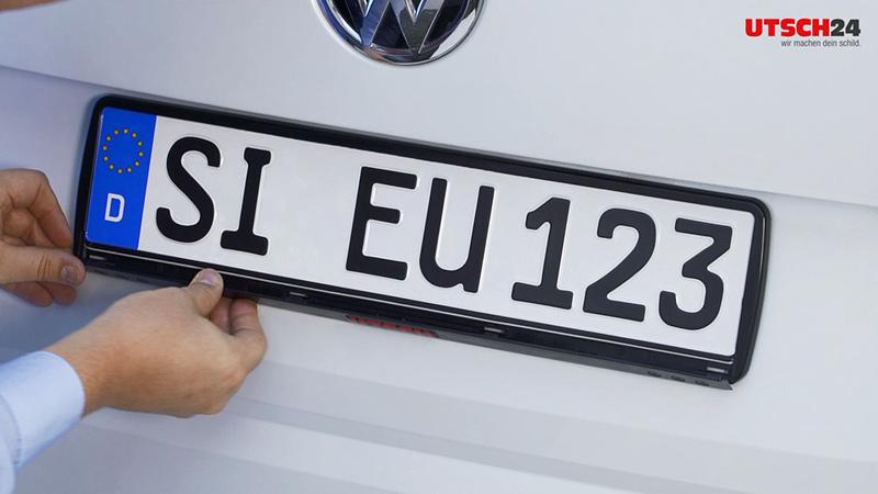 Kennzeichenhalter ERUCARAT Standard Silver-Black geschwungen