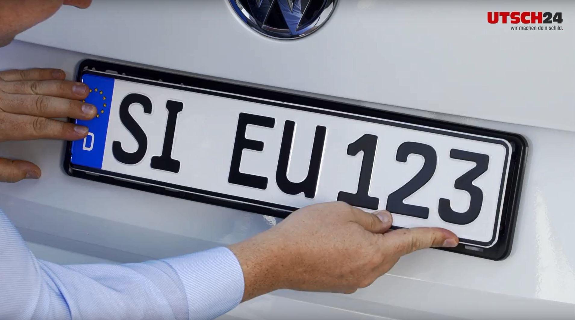 Kennzeichenhalter selbst gestalten - ERUSTAR Special mit individuellem Digitaldruck